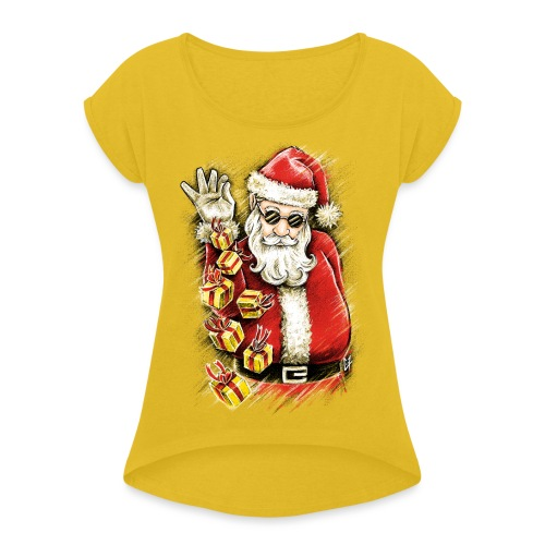 Gift Bae - Women's T-Shirt with rolled up sleeves