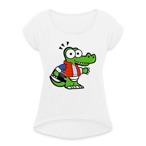 MyDealz - Frauen T-Shirt mit gerollten Ärmeln