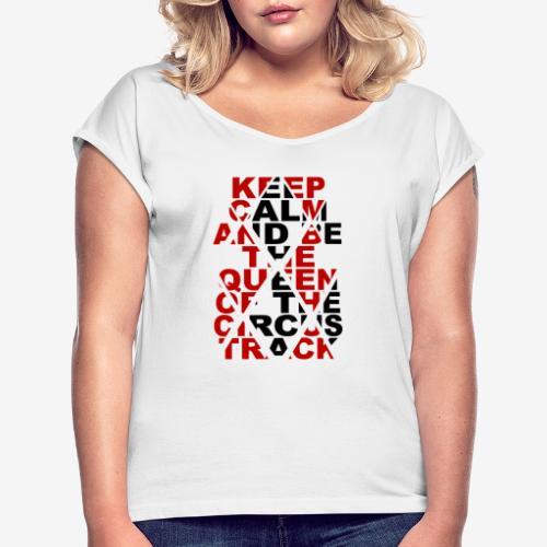 Queen Track - T-shirt à manches retroussées Femme