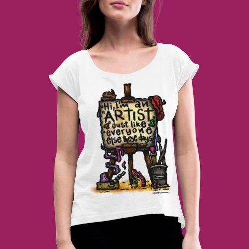 Art-Toys before they were cool. - Frauen T-Shirt mit gerollten Ärmeln