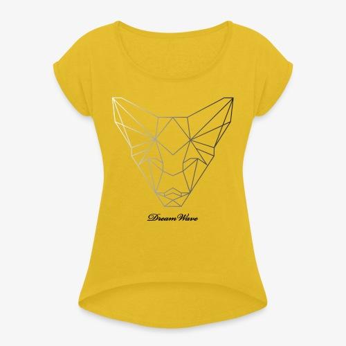 DreamWave Fox/Renard - T-shirt à manches retroussées Femme