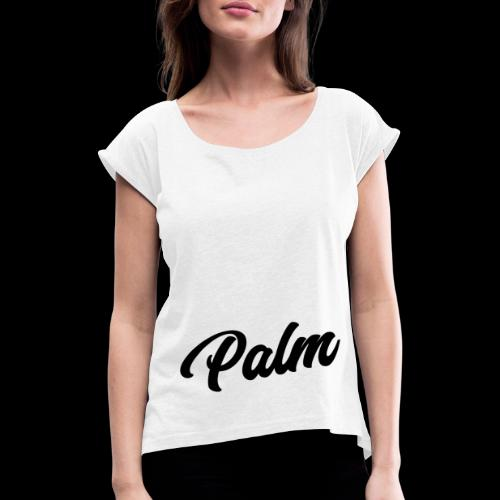 Palm Exclusive black - Dame T-shirt med rulleærmer