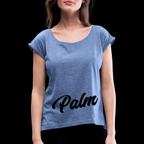 Palm Exclusive black - Dame T-shirt med rulleærmer