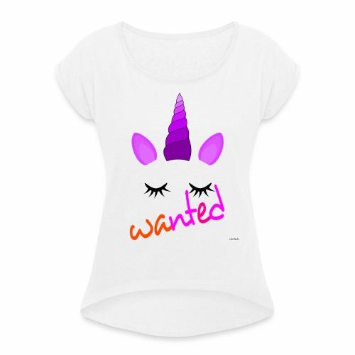 Wanted unicorn - ODIFacto design - Maglietta da donna con risvolti