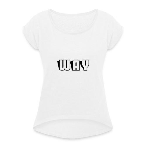 Way semplice - Maglietta da donna con risvolti