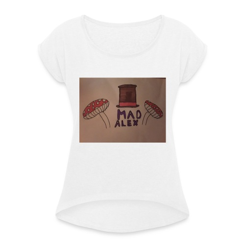 Mad Alex Logo - Women's T-Shirt with rolled up sleeves