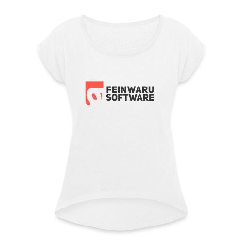Feinwaru Full Logo - Women's T-Shirt with rolled up sleeves