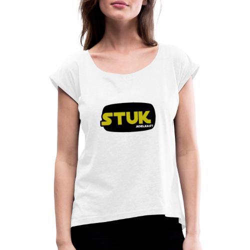 stuk koelkast - Vrouwen T-shirt met opgerolde mouwen