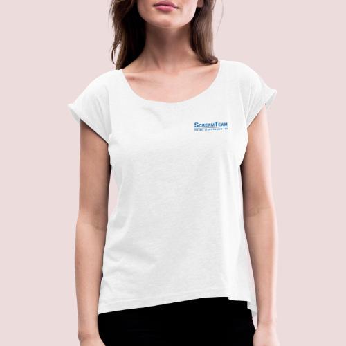 ScreamTeam Region 32 - T-shirt med upprullade ärmar dam