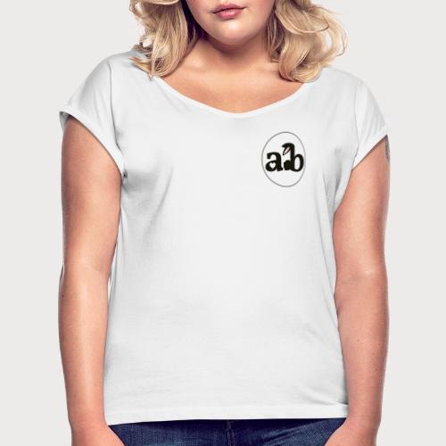 Amour the Bunny Logo - Frauen T-Shirt mit gerollten Ärmeln