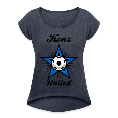 konzunited2 - Frauen T-Shirt mit gerollten Ärmeln