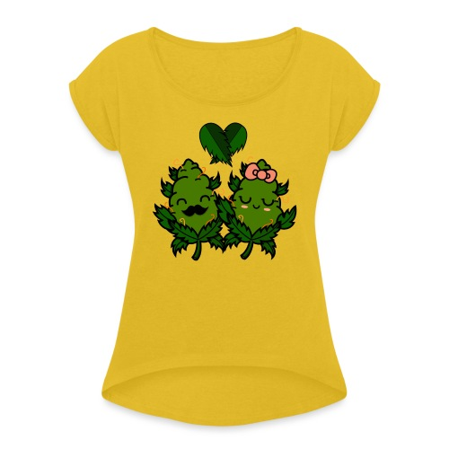 Mr & Ms Weed Nug - Camiseta con manga enrollada mujer
