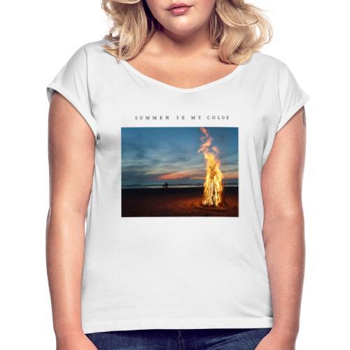 summer is my color 3 - Maglietta da donna con risvolti