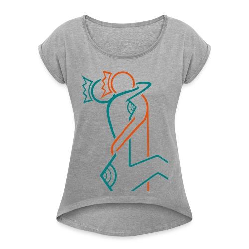 vector 1 - T-shirt à manches retroussées Femme