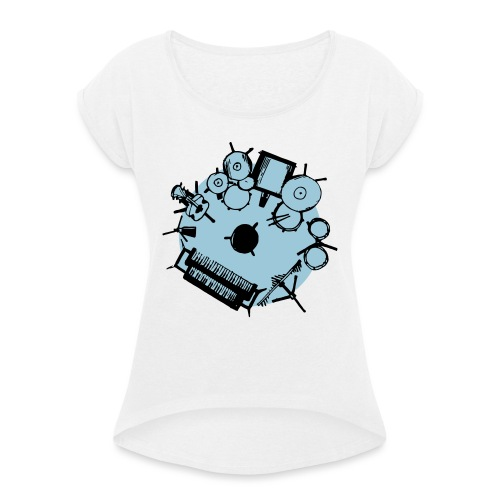 Lazy Susan Musician - Women's T-Shirt with rolled up sleeves