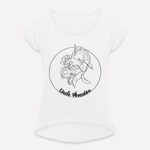 Circle Obsession - T-shirt à manches retroussées Femme