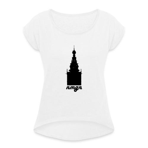 NMGN - Vrouwen T-shirt met opgerolde mouwen