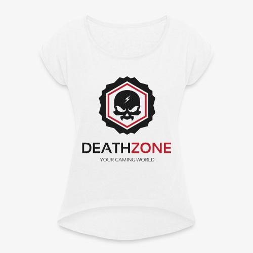 DeathZone Logo Avatar - Koszulka damska z lekko podwiniętymi rękawami
