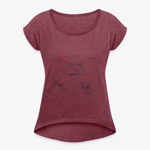 Bad Mood - Maglietta da donna con risvolti