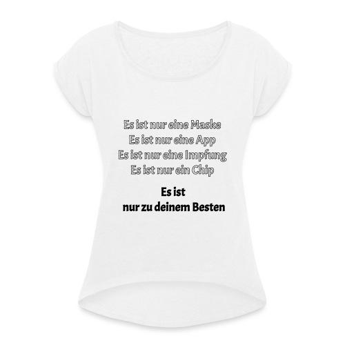 zum Besten - Frauen T-Shirt mit gerollten Ärmeln
