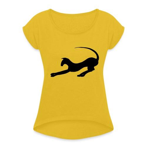 Silluett 2 - T-shirt med upprullade ärmar dam