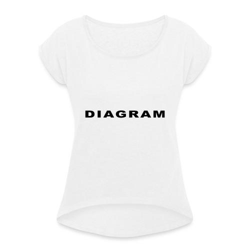 DIAGRAM Word Edition - T-shirt à manches retroussées Femme