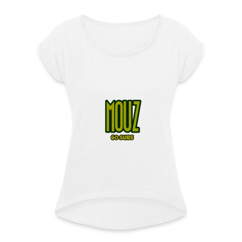 Mouz Limited Time 60 subs gold shirt - Women's T-Shirt with rolled up sleeves