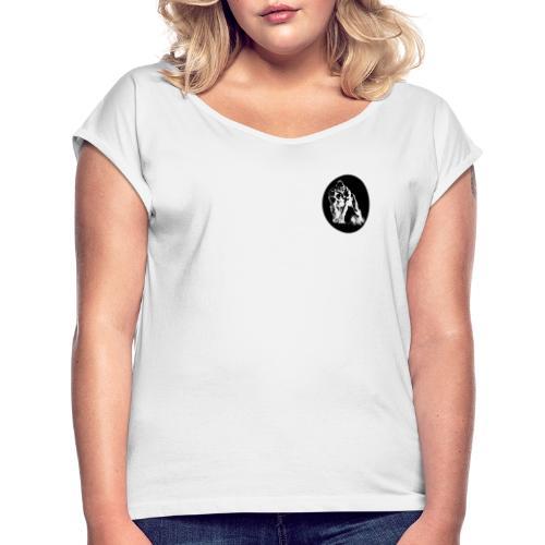 EPIC-Gorilla-Design - Frauen T-Shirt mit gerollten Ärmeln