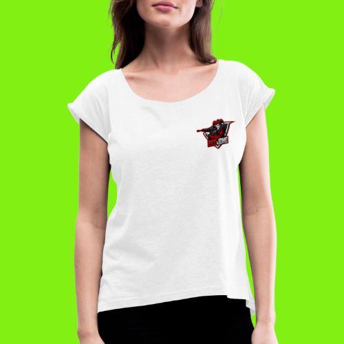 Redjoke - Frauen T-Shirt mit gerollten Ärmeln