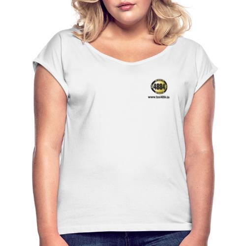 logoeinfach schwarz - Frauen T-Shirt mit gerollten Ärmeln