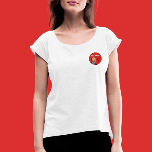 Echt Meenz Logo - Frauen T-Shirt mit gerollten Ärmeln