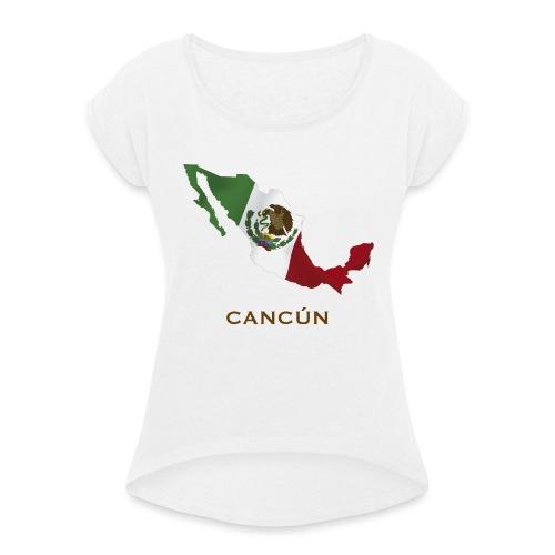 Never Stop Traveling - T-shirt à manches retroussées Femme