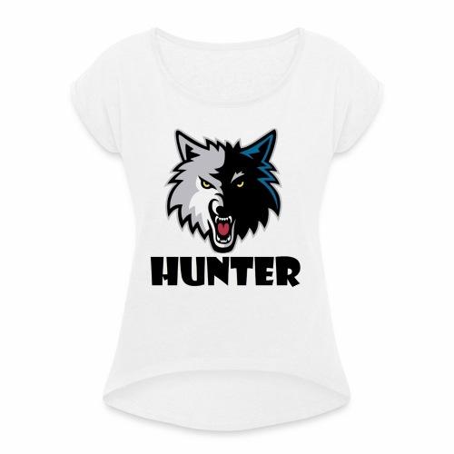 Hunter T-schirt - Vrouwen T-shirt met opgerolde mouwen