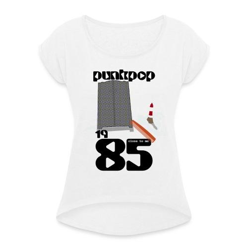 Dark Close PunkPop 1985 - Maglietta da donna con risvolti