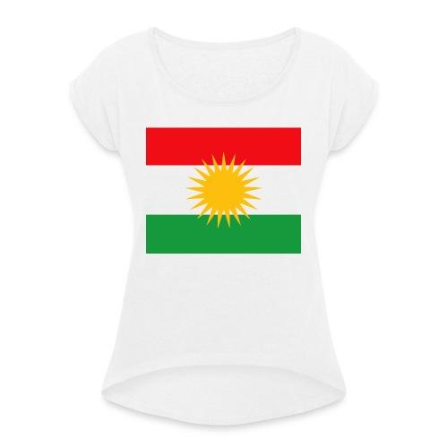 kurdistan - T-shirt med upprullade ärmar dam