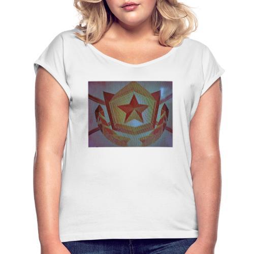 15835091220901057995167387213210 - Frauen T-Shirt mit gerollten Ärmeln