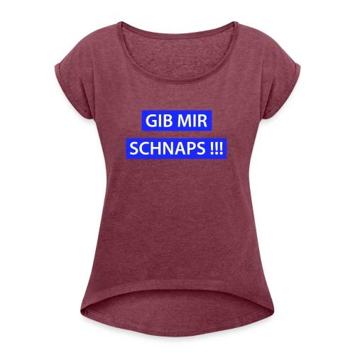 Wanda - gut beinanda - Frauen T-Shirt mit gerollten Ärmeln