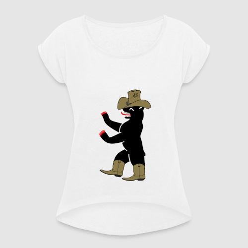 Berlin Bär cowboy - Frauen T-Shirt mit gerollten Ärmeln