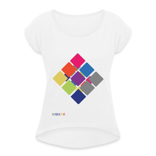 Cube 2 - Women's T-Shirt with rolled up sleeves