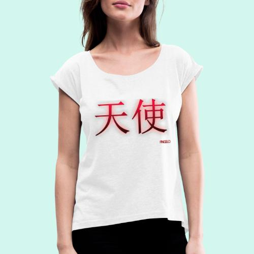 ANGELO/ANGEL - Vrouwen T-shirt met opgerolde mouwen