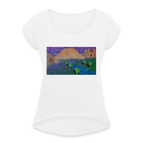 Silent river - Women's T-Shirt with rolled up sleeves