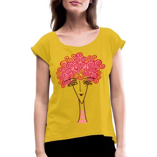 Viso di donna - Maglietta da donna con risvolti