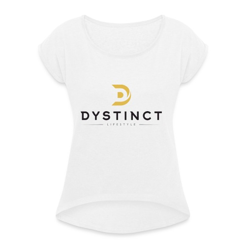 Dystinct Large Logo - Women's T-Shirt with rolled up sleeves
