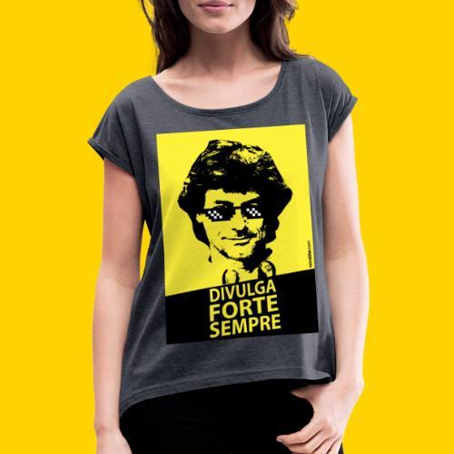 DIVULGA FORTE SEMPRE - Maglietta da donna con risvolti