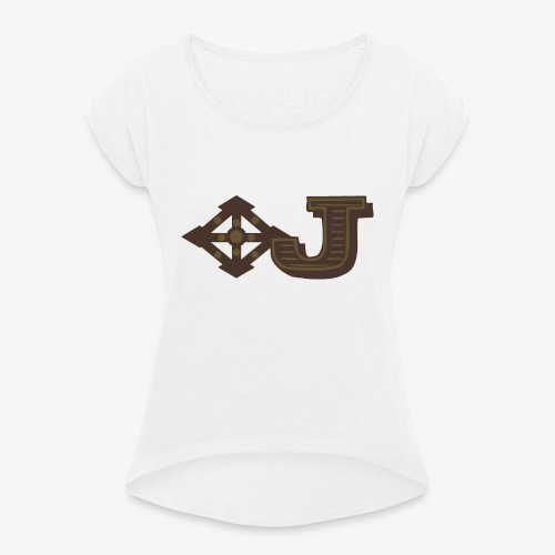 Jambo Airways Logo - Women's T-Shirt with rolled up sleeves