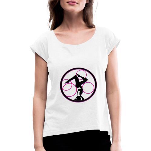 yoga circle Geschenks Idee für Sport begeisterte - Frauen T-Shirt mit gerollten Ärmeln