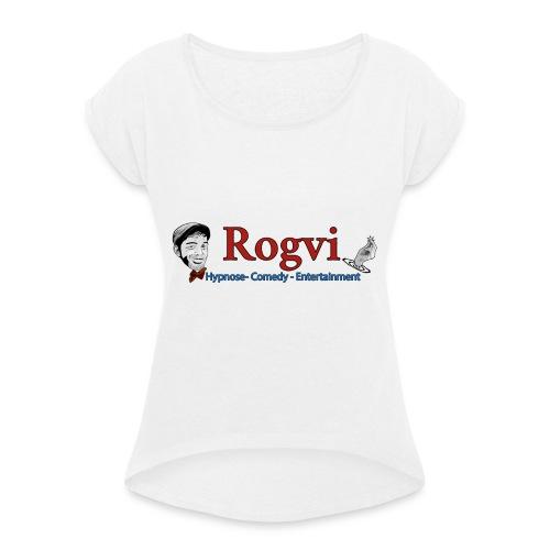 Rogvi Merch. - Dame T-shirt med rulleærmer