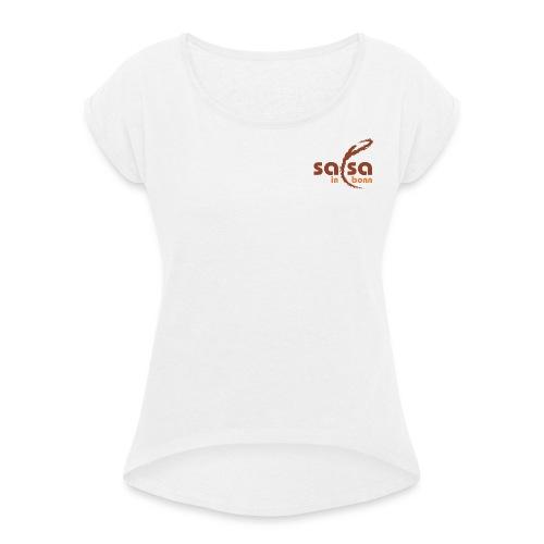 Salsa in Bonn Logo - Frauen T-Shirt mit gerollten Ärmeln