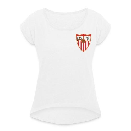 FC Sevilla - Frauen T-Shirt mit gerollten Ärmeln