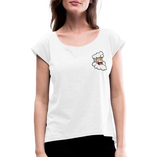 Santa Dude - Frauen T-Shirt mit gerollten Ärmeln